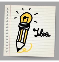 Light bulb Pencil and Good idea vector image