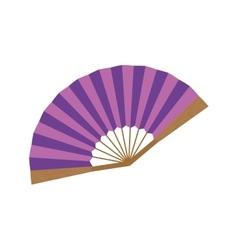 fashion hand fan vector image