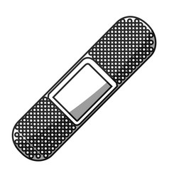 Grayscale silhouette with adhesive band health vector