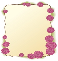 Framing of pink roses vector