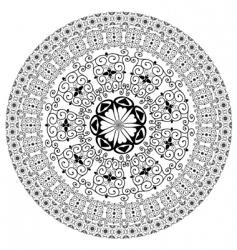 arabesque pattern round vector image