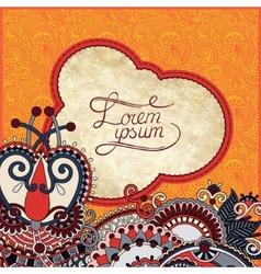 vintage grunge pattern on floral background vector image