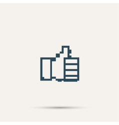 Pixel icon raised a finger design vector