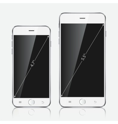 Realistic white mobile apple iphone 6 plus vector