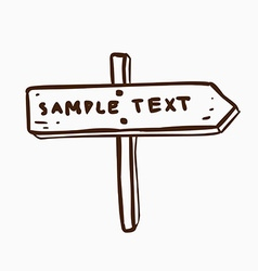 Hand drawn sign vector