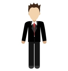 Avatar man wearing black suit graphic vector