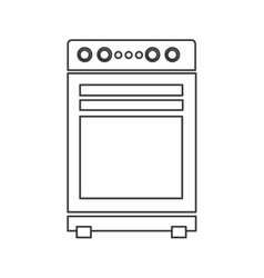 Stove oven icon vector