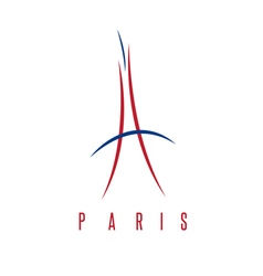 Abstract of eiffel tower in paris vector