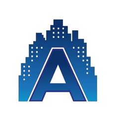 a letter city vector image vector image