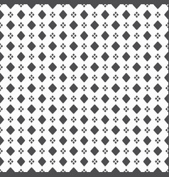black dense big and small rhombus dots pattern on vector image