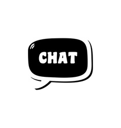 Chat message logotype logo vector