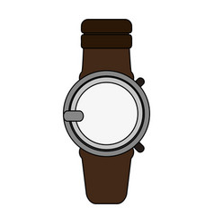 Colorful graphic smartwatch with electronic screen vector