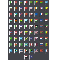 flat modern flags of the world vector image