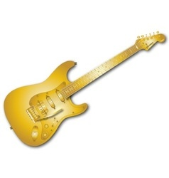 Gold Guitar vector image vector image