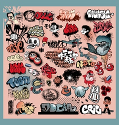 graffiti street art objects vector image vector image