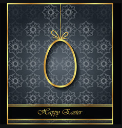 Happy easter modern and elegant background vector