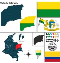 Map of vichada vector