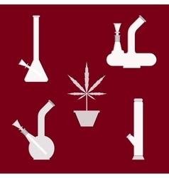 Marijuana equipment vector