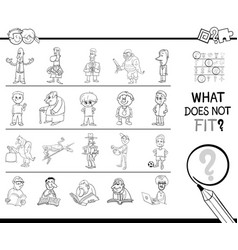 Mismatched picture in a row coloring page vector