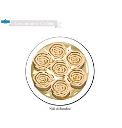 Nidi di rondine a famous dish in san marino vector