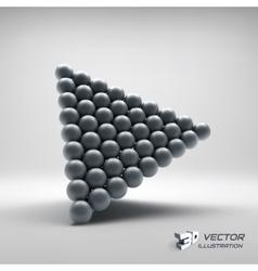Pyramid of balls 3d vector image