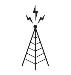Radio antenna sending signal icon wireless vector