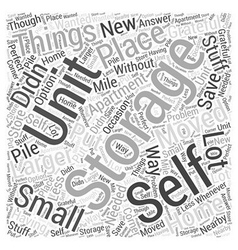 Self storage units word cloud concept vector