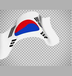 south korea flag on transparent background vector image