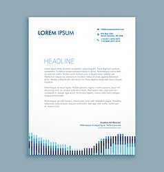 Tendy letterhead design vector