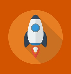 Transportation Flat Icon Spaceship vector image vector image