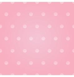 Vintage pastel pink baby girl polka dots vector