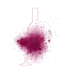 wine splash background vector image