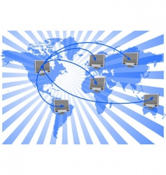 world net vector image vector image