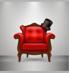 retro chair with cap vector image