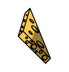 cheese food fresh picnic vector image