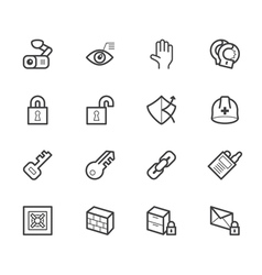 Security element icon set on white backgrou vector