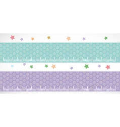 Children height meter wall sticker set lilac blue vector