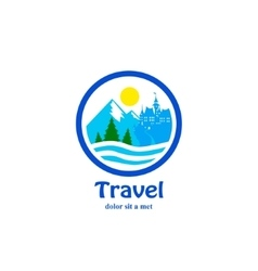 Travel icon for tourist industry vector