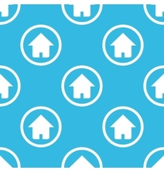 Home sign blue pattern vector