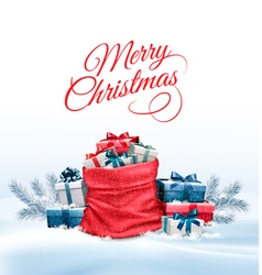 Office Background with Santa Hat Tablet and Office vector image