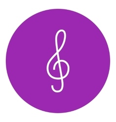 G-clef line icon vector