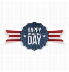 Happy memorial day festive banner with text vector