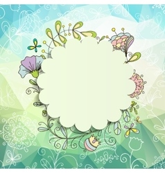 Spring or summer background vector
