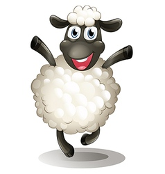 A happy sheep vector