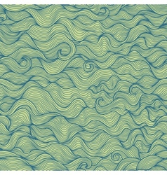 Abstract doodle wavy seamless pattern vector image