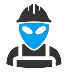 Alien worker icon vector