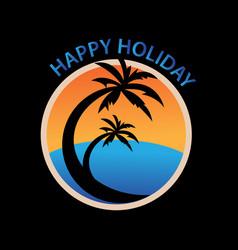 beach logo vector image