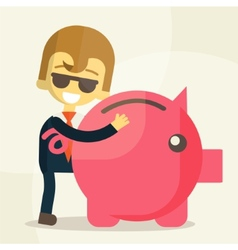 Business man save money vector image