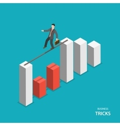Business tricks isometric flat concept vector