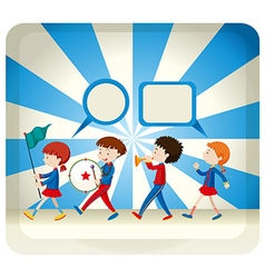 Children playing in the band vector image